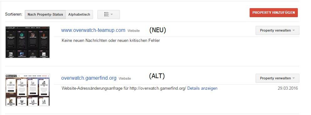 Domainumleitung, Webmastertools